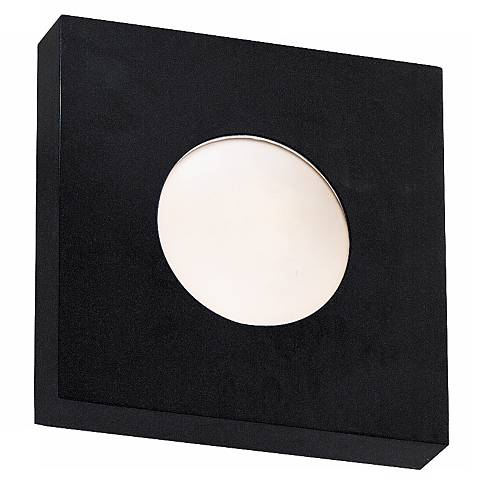 "Burst Black Square 10"" High Outdoor Ceiling or Wall Light"