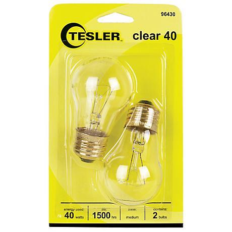 Tesler 40 Watt 2 Pack Clear Ceiling Fan Light Bulbs 96430 Lamps Plus
