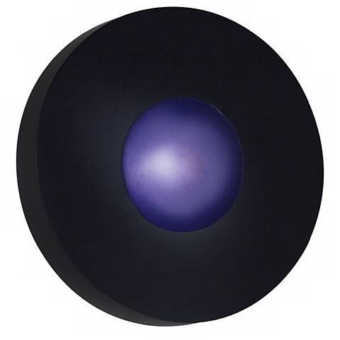 "Burst Black Round 9 1/2"" Wide Outdoor Wall or Ceiling Light"