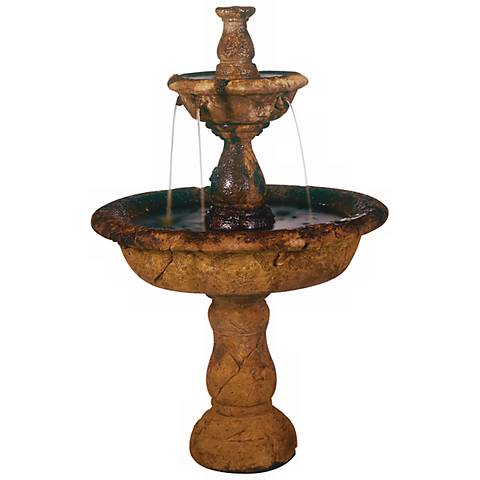 "Henri Studio 42"" High Small Tazza Tier Garden Fountain"