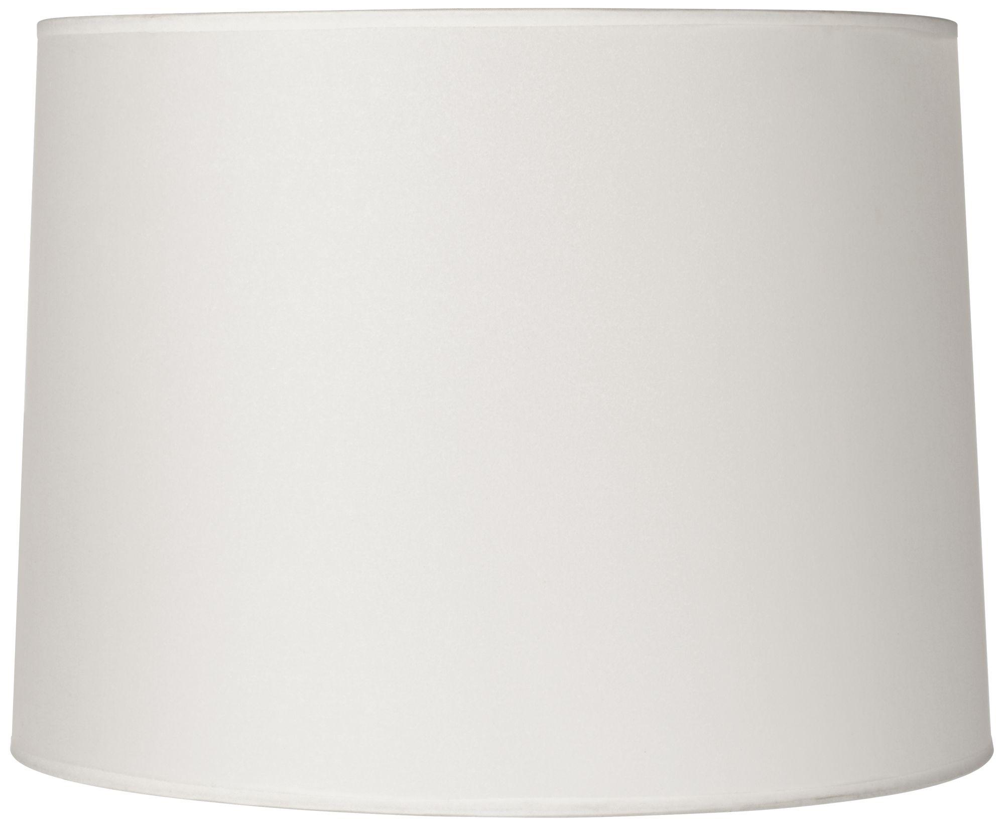 hardback white drum lamp shade 13x14x10 spider