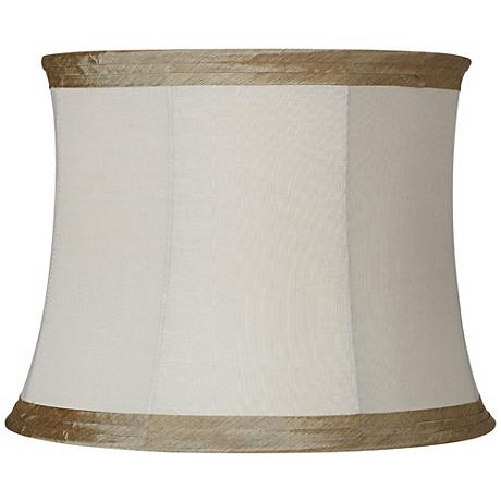 Ivory Linen with Taupe Trim 14x16x12 (Spider)