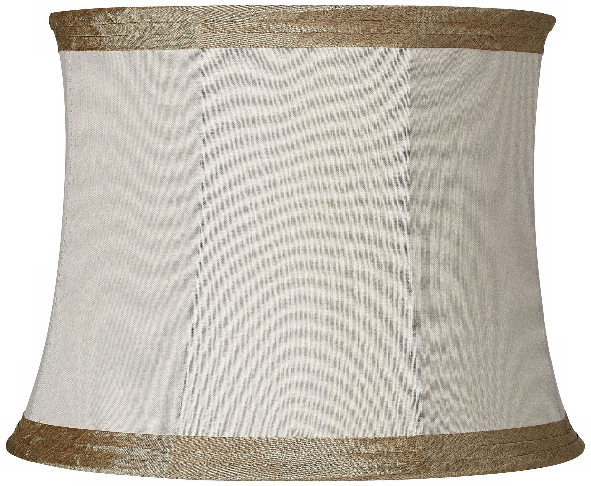 Ivory Linen with Taupe Trim L& Shade 14x16x12  sc 1 st  L&s Plus & Creme Mushroom Pleat Lamp Shade 12x18x18 (Spider) - #K5507 | Lamps ... azcodes.com