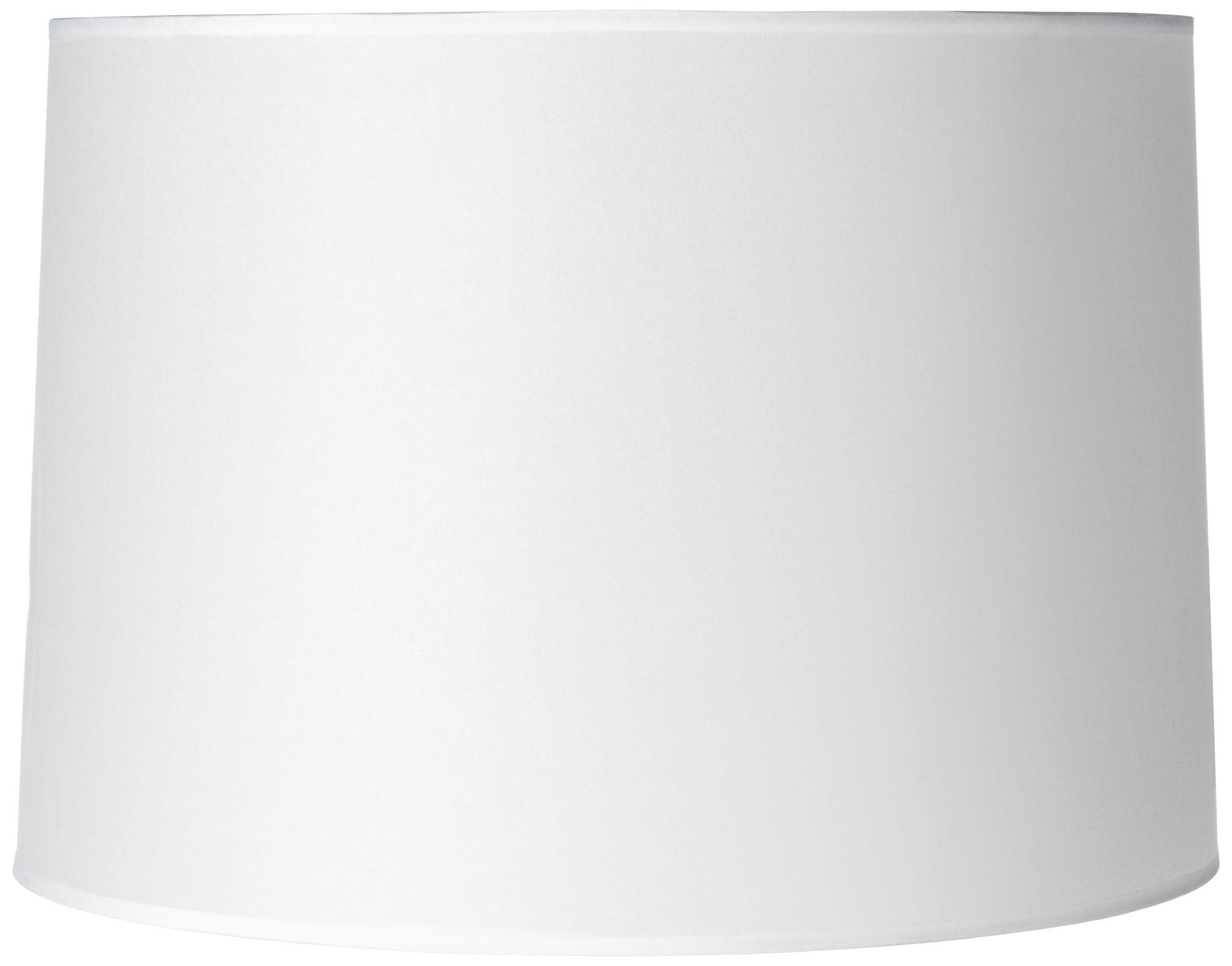 hardback white drum paper lamp shade 15x16x11 spider - Drum Lamp Shades