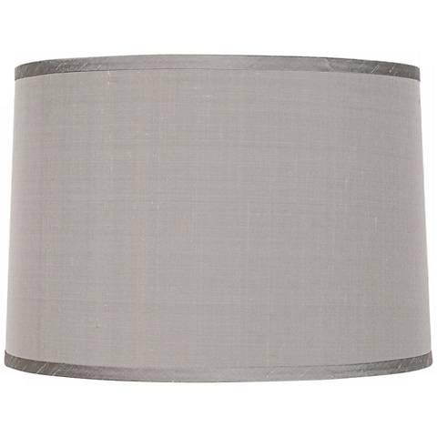 Platinum Gray Dupioni Lamp Shade 15x16x11 (Spider)