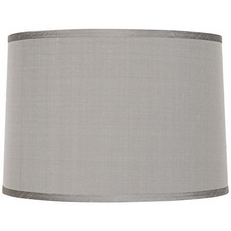Platinum Gray Dupioni Lamp Shade 15x16x11x11 (Spider)