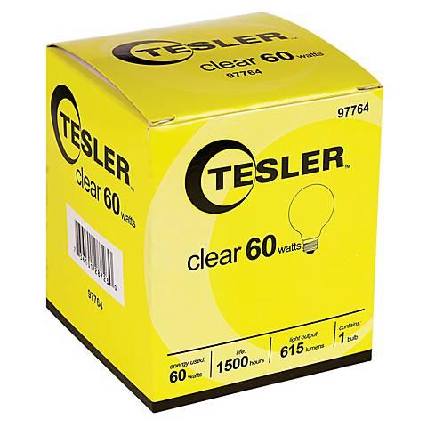 Tesler 60 Watt G25 Clear Glass Light Bulb