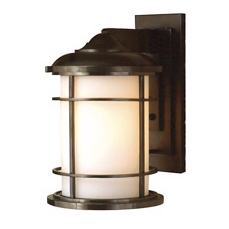 """Feiss Lighthouse 15"""" High Bronze Outdoor Wall Light"""
