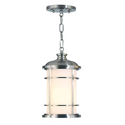 "Feiss Lighthouse 13"" High Steel Outdoor Hanging Lantern"