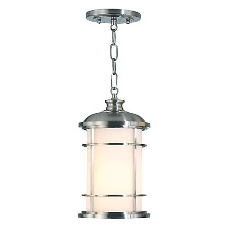 """Feiss Lighthouse 13"""" High Steel Outdoor Hanging Lantern"""