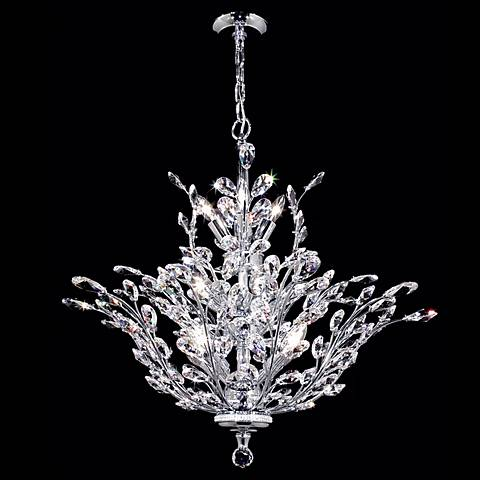 James R. Moder Florale Collection Silver Chandelier