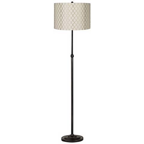 Embroidered Hourglass Bronze Adjustable Floor Lamp