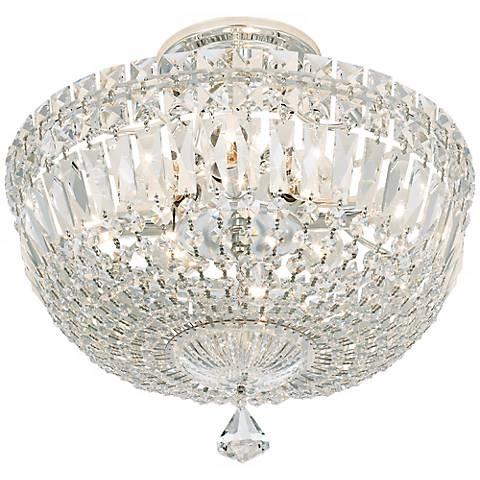 "Schonbek Petite Crystal Silver 13"" H Swarovski Ceiling Light"