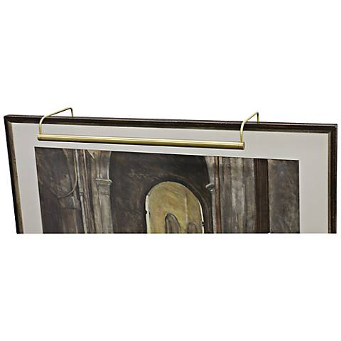 "House of Troy 30"" Wide Slim Line Brass Picture Light"