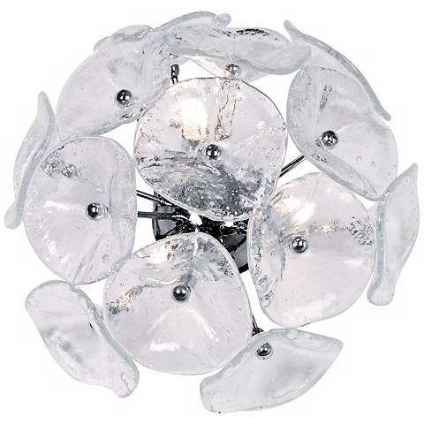 Fiori Collection Murano Glass 3-Light Xenon Wall Sconce
