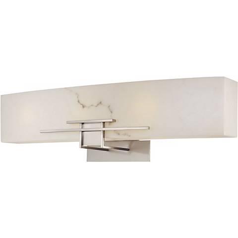 "Alabaster Dust 24"" Wide Bathroom Wall Light"
