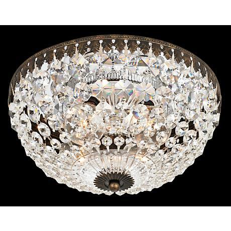 "Schonbek Empire Spectra Crystal 10"" Wide Ceiling Light"