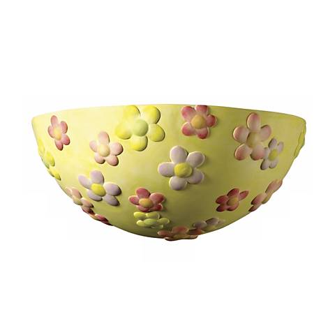 "Retro Flower 10 1/2"" Wide Wall Sconce"