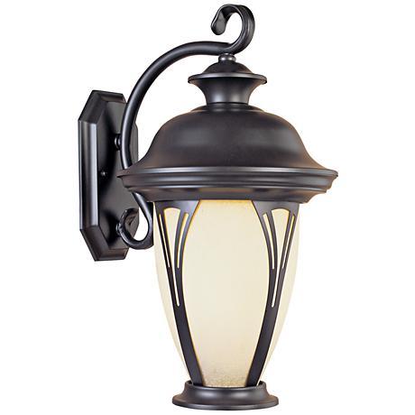 """Westchester 12 3/4"""" High Amber Glass Outdoor Wall Light"""