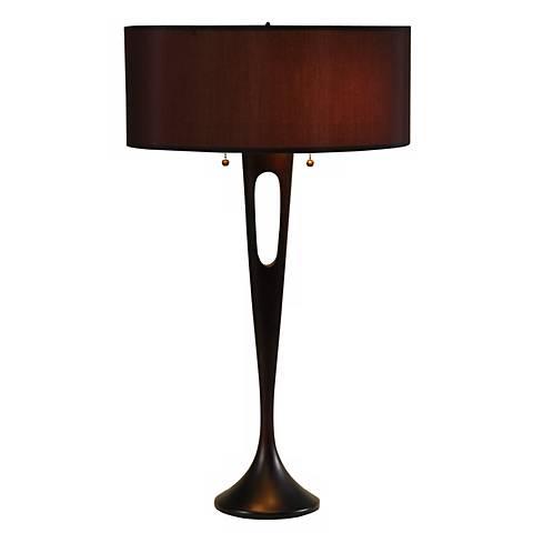 lights up french mod bronze black table lamp 99036. Black Bedroom Furniture Sets. Home Design Ideas