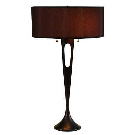 Lights Up! French Mod Bronze-Black Table Lamp
