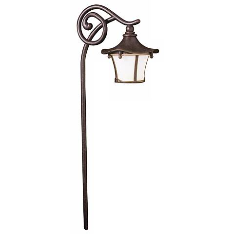 Kichler Cotswold Lantern Style Aged Bronze Path Light