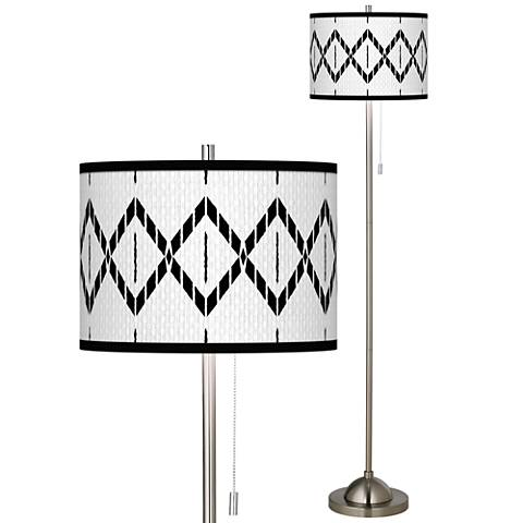 Paved Desert Brushed Nickel Pull Chain Floor Lamp
