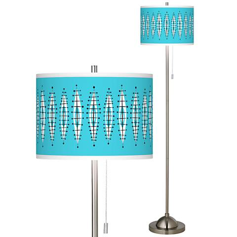 Vibraphonic Bounce Brushed Nickel Pull Chain Floor Lamp