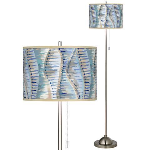 Siren Brushed Nickel Pull Chain Floor Lamp