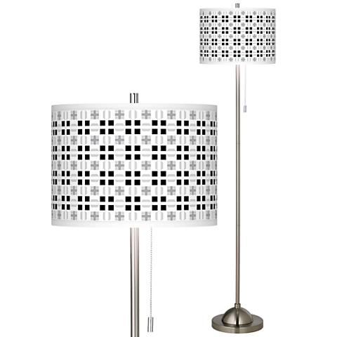 Quadrant Brushed Nickel Pull Chain Floor Lamp