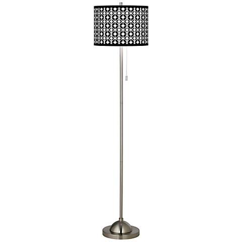 Matrix Brushed Nickel Pull Chain Floor Lamp