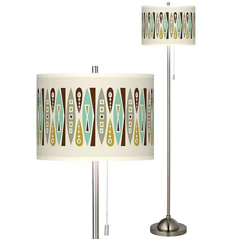 Vernaculis II Brushed Nickel Pull Chain Floor Lamp