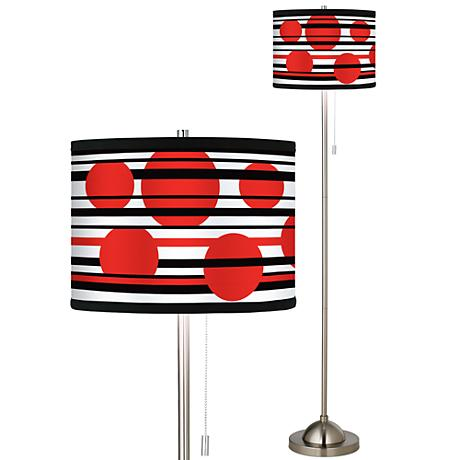 brushed nickel pull chain floor lamp 99185 82422 lamps plus. Black Bedroom Furniture Sets. Home Design Ideas