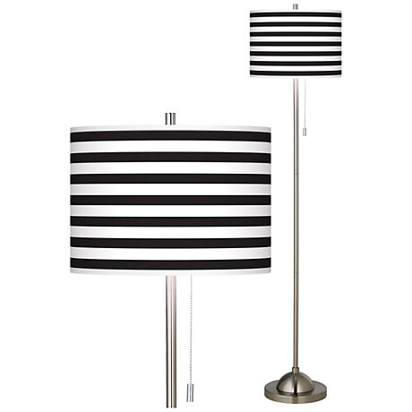 brushed nickel pull chain floor lamp 99185 83467 lamps plus. Black Bedroom Furniture Sets. Home Design Ideas
