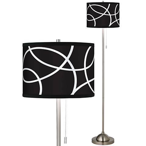 Abstract Loop Giclee Shade Floor Lamp