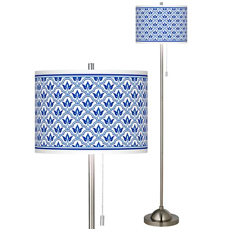 Arabella Brushed Nickel Pull Chain Floor Lamp