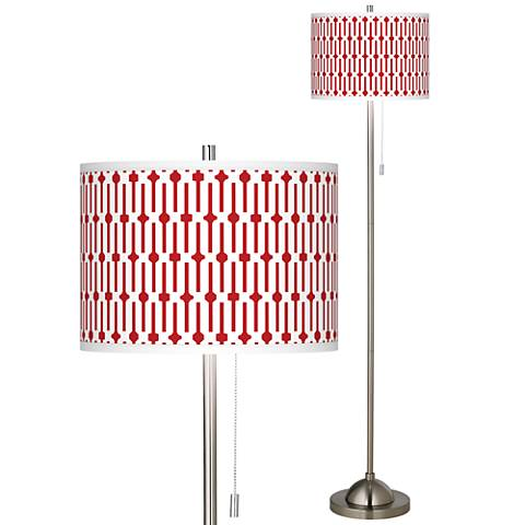 Amaze Brushed Nickel Pull Chain Floor Lamp
