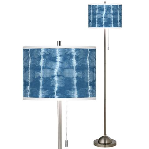 Cool Reflections Brushed Nickel Pull Chain Floor Lamp