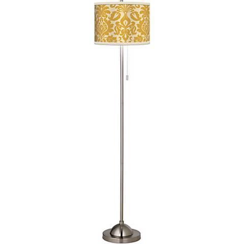 Stacy Garcia Lemongrass Florence Giclee Brushed Steel Floor Lamp