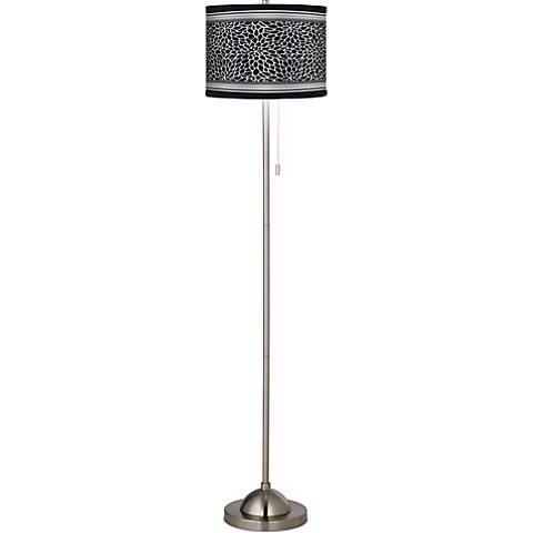 Stacy Garcia Metropolitan Dahlia Giclee Brushed Steel Floor Lamp