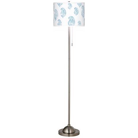 Paisley Snow Giclee Contemporary Floor Lamp