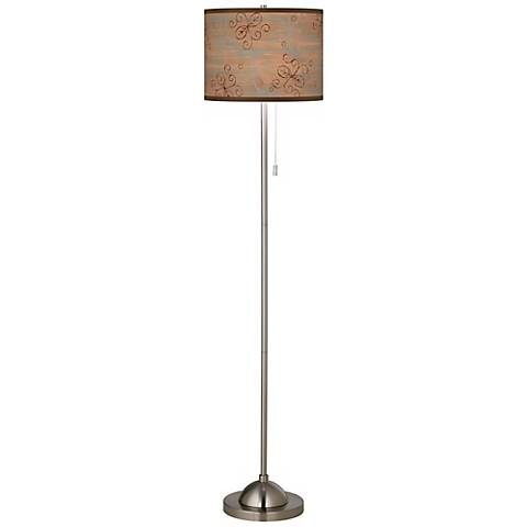 Cedar Lake Giclee Contemporary Floor Lamp