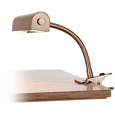 Tube Gooseneck Bronze Clip-On Lamp