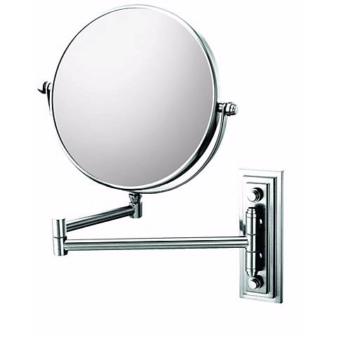 """Chrome Finish Classic Double Arm 7 3/4"""" Wide Wall Mirror"""