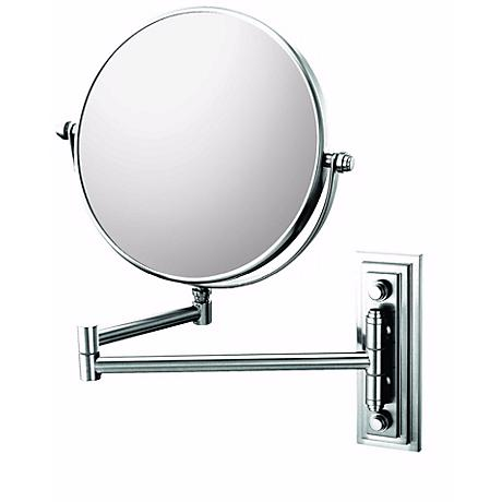 "Chrome Finish Classic Double Arm 7 3/4"" Wide Wall Mirror"