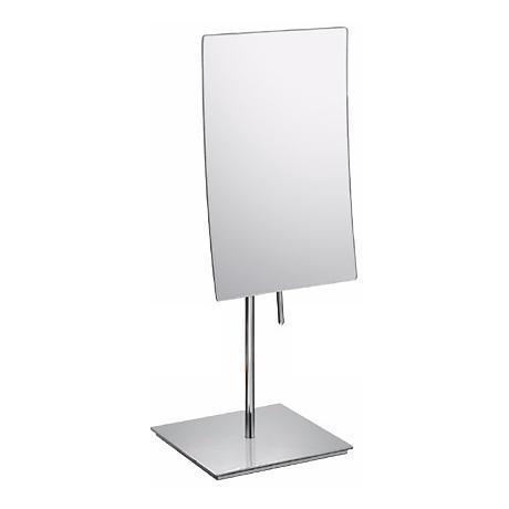 "Aptations Chrome Minimalist Vanity Stand 13 3/4"" High Mirror"