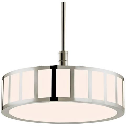 "Sonneman Capital 16 1/2"" Wide Nickel LED Pendant Light"