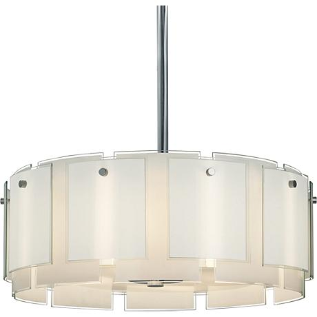 """Sonneman Velo 29"""" Wide Polished Chrome Pendant Light"""