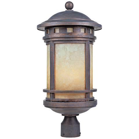 "Sedona 23"" High Mediterranean Patina Outdoor Post Light"