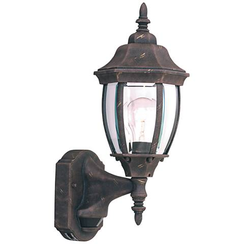 "Tiverton 16 1/4""H Gold Dusk to Dawn Outdoor Wall Light"